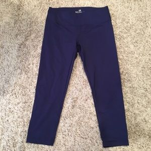 Navy Blue Crop Leggings (90 Degree by Reflex)